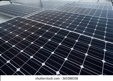 Roof with solar panels cells