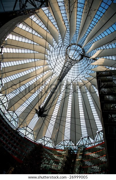 The roof of the Sony-Center in Berlin