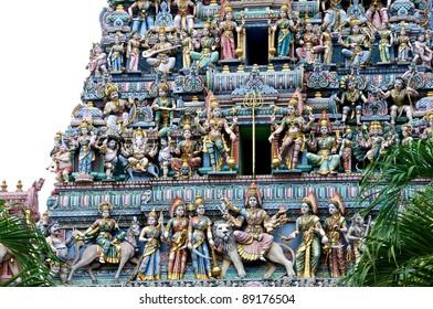 The Roof Of The Sri Veeramakaliamman Temple