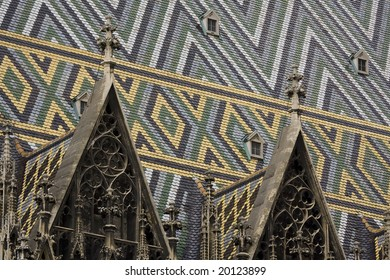 Roof of St. Stephan's cathedral in vienna