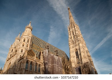 Roof of St. Stephen's Cathedral in Vienna, Austria
