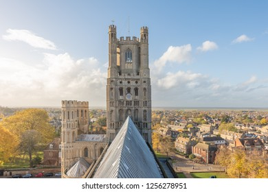 Roof structure of Ely Cathedral in Cambridgeshire, England.
