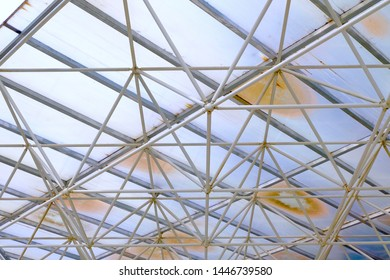 roof structure mordern architecture in white color