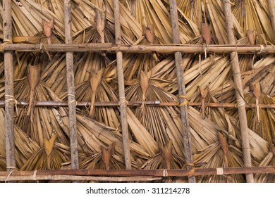 Roof from sugar palm leaf