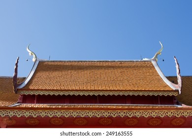roof temple in chaimai thailand