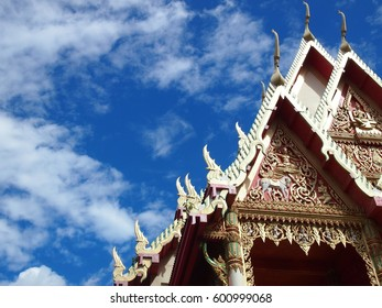 Roof of temple in Thailand
