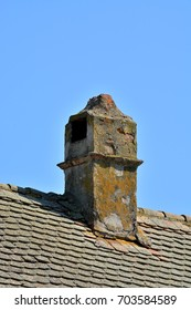 Roof tile with old chimney