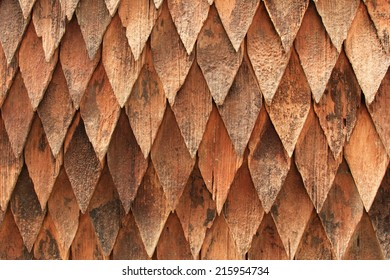 Roof tile wood background