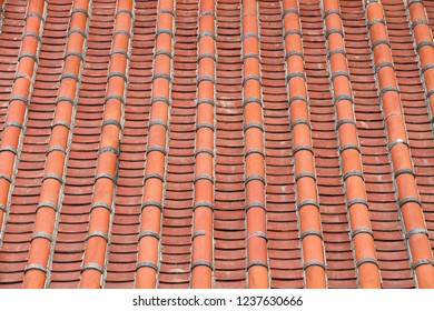 The roof tiles on the traditional oriental architecture.