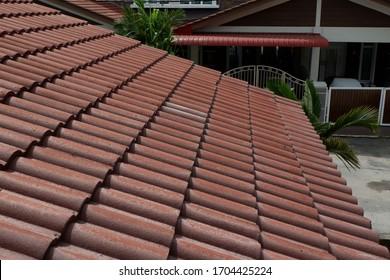 roof top in selective focus. Outdoor.