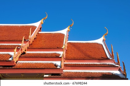 A Roof Top of A Thai Style Temple ,Nakhon si thammarat, Thailand