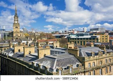 Roof top views of Newcastle City Skyline