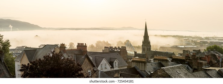 Roof tops in the morning in Stirling, Scotland, UK