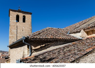 Roof of the town of Sepulveda in the province of Segovia, Spain
