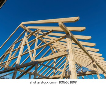 roof truss of a new roof