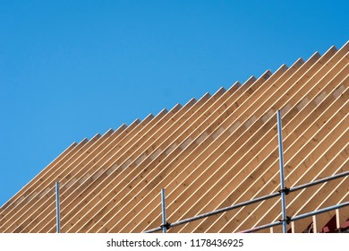 roof trusses on a new building