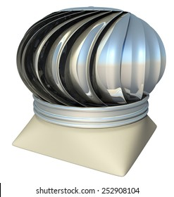 roof ventilation heater, 3d render isolated on white