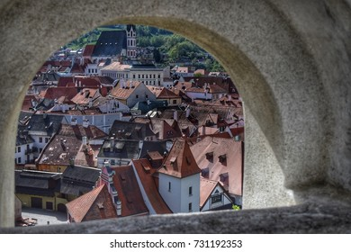 The roof view from Arch at Cesky krumlov
