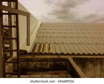 roof vintage , blackground