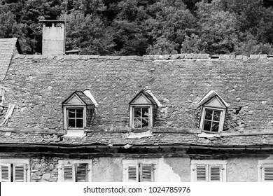 Roof with windowsa