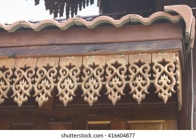 roof of wooden carving