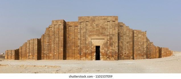 Roofed colonnade entrance inside Step Pyramid complex