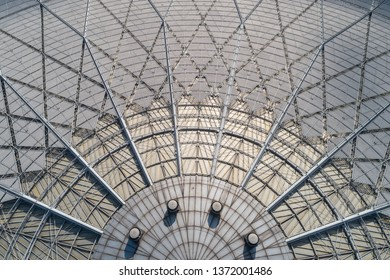 Roofing of railway station steel frame structure