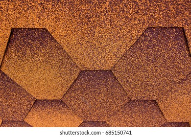 Roofing Shingles terracotta color, roof tile texture.