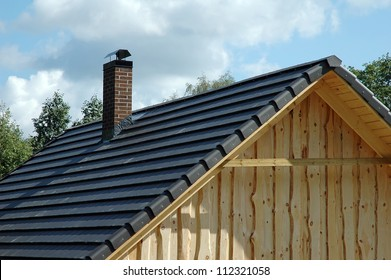 roofing tiles on roof