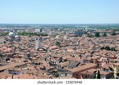 Roofs of Brescia seen from the castle. Brescia is a city located in northern of Italy near the famous Lake Garda.