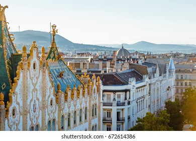 Roofs in Budapest, Hungary