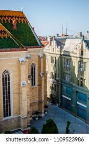 Roofs of buildings in Novi Sad, architecture