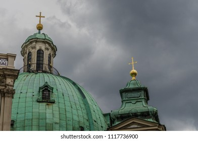 Roofs with crosses in Vienna Austria