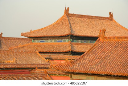 Roofs of forbidden city, China, Beijing