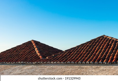 Roofs of the fort Reis Magos in Natal, Brazil