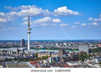 The roofs of Hamburg