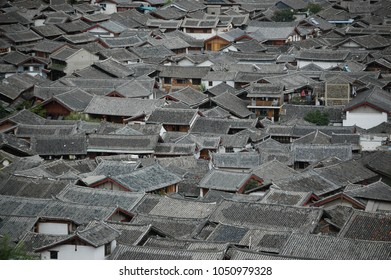 Roofs of low Yunnan housing (China)