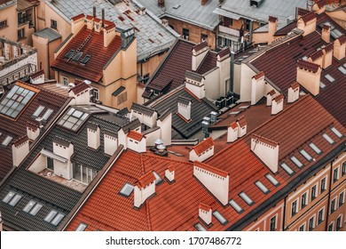 Roofs of Lviv from a bird's eye view