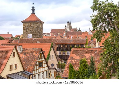 Roofs in the medieval town Rothenburg ob der Tauber.