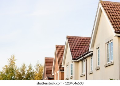Roofs of modern homes in the UK