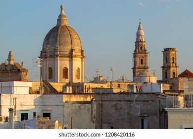 Roofs of Monopoli town in Italy