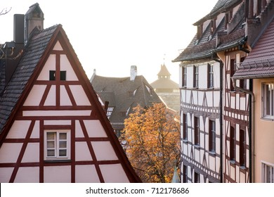 Roofs in Nuremberg old town