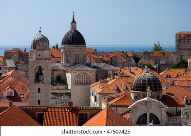 The Roofs of the old city of Dubrovnik on a sunny day