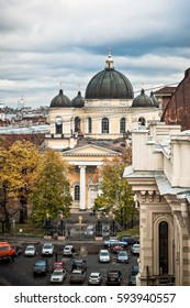 roofs of old Saint-Petersburg, city view