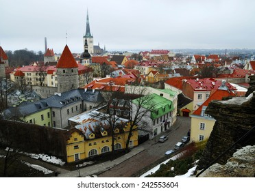 Roofs of the old Tallinn