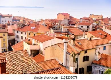 Roofs of Piran Slovenia