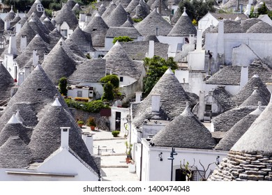 roofs and terraces, Alberobello, Apulia region, Italy