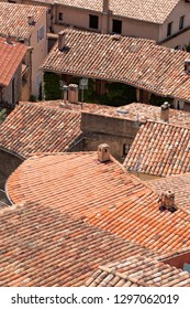 Roofs top in village, Provence, France