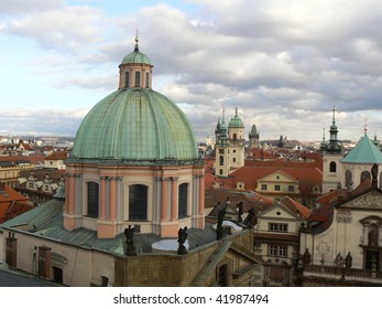 Roofs and towers in Prague