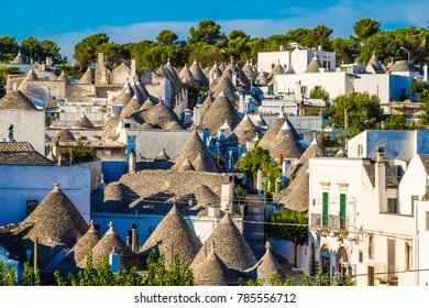 Roofs Of Trulli Houses - Alberobello, Apulia Region, Italy, Europe